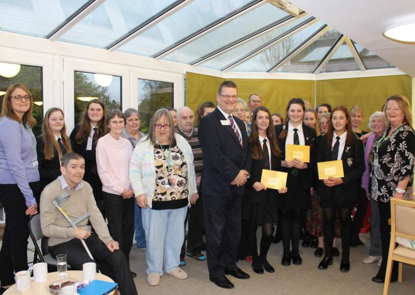 "Halstead pupils win competition as part of ""Community Connect"" scheme. ANL-160703-163033001"