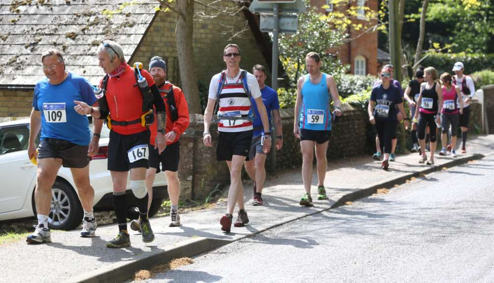 Runners take part in the Bury-Clare challenge