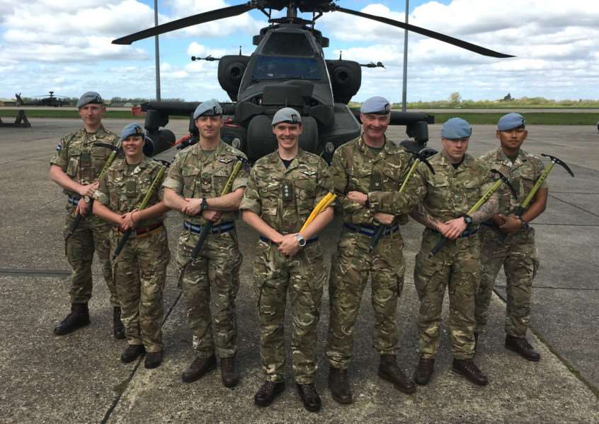 Soldiers who operate the Army's Apache attack helicopters from Wattisham are setting off to the Himalayas as part of celebrations of the Army Air Corps' Diamond Jubilee.