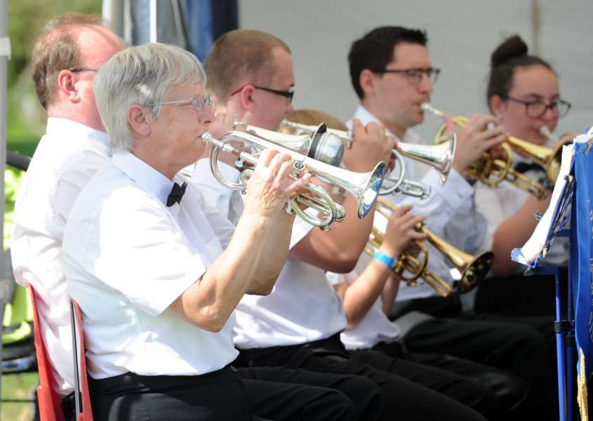 Cavendish Annual Fete and Horticultural Show''Pictured: Long Melford Silver Band'''PICTURE: Mecha Morton