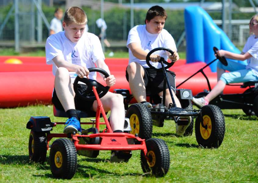 Pedal karts were among the sporting activies on offer