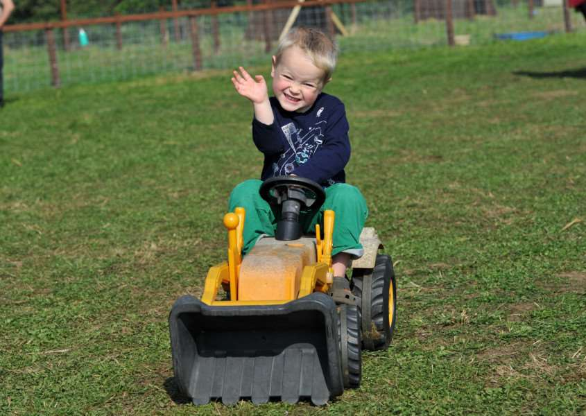 Jack Lee (3) pictured at last year's Field of Dreams Farm Open Day