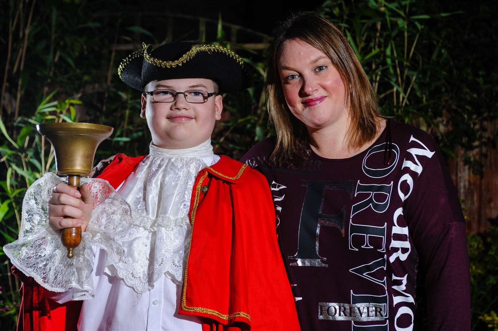 Harry Turburville, who has been recognised by The Ancient and Honorable Guild of Town Criers, pictured with his mum CherylPicture by Mark Bullimore Photography