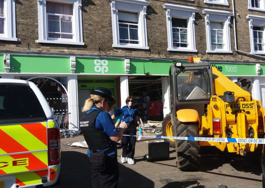 Images of the aftermath of the ram raid in Clare. Submitted photo. ANL-161109-141941001