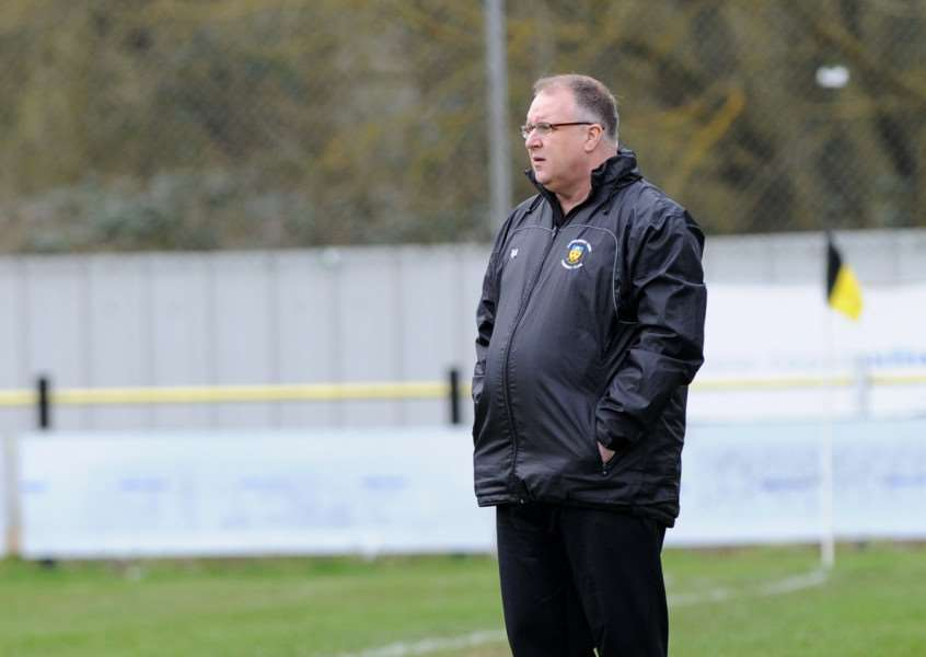 FINGERS CROSSED: Stowmarket Town boss Rick Andrews could help the club clinch promotion this weekend