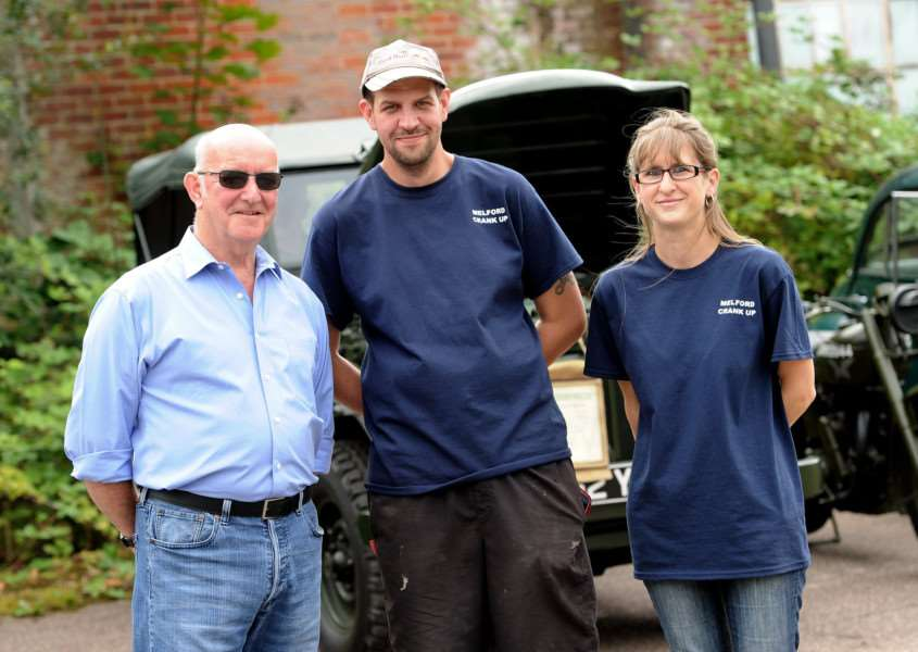Long Melford Crank-Up''Pictured: Gordon McPherson (Owner of the land) with organisers Paul Watson and Emma Cranfield'''PICTURE: Mecha Morton
