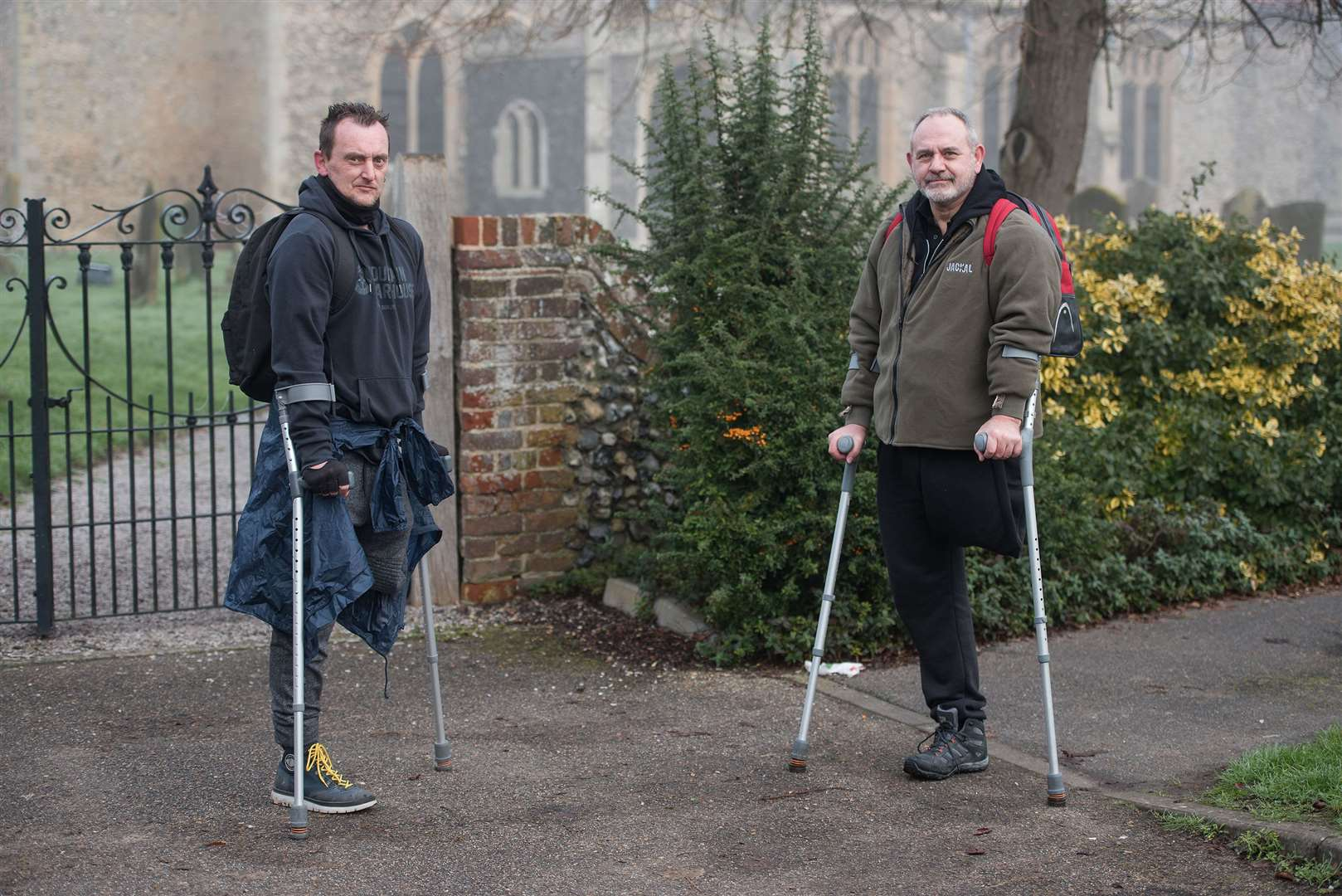 Best friends Paul Clark and Marc Pitman have set a 700 mile virtual walking challenge involving some of the world's most well-known places to raise money for the mental health charity, Mind. Picture by Mark Westley