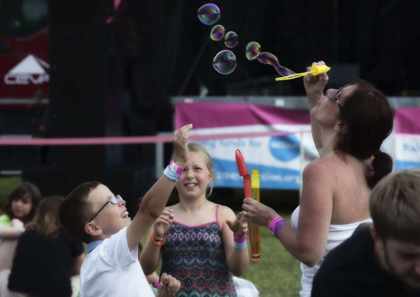 Some bubble fun at the 2015 Gig in the Park ANL-160623-145418001