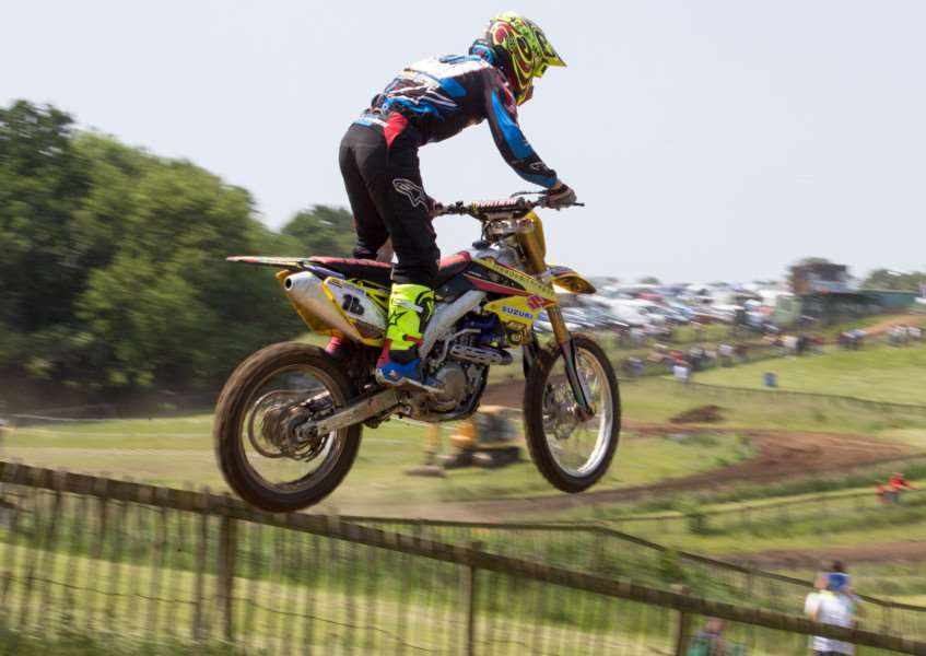 FLYING HIGH: Josh Spinks on his way to retaining the Richard Fitch Trophy. Picture: Paul H-Payne