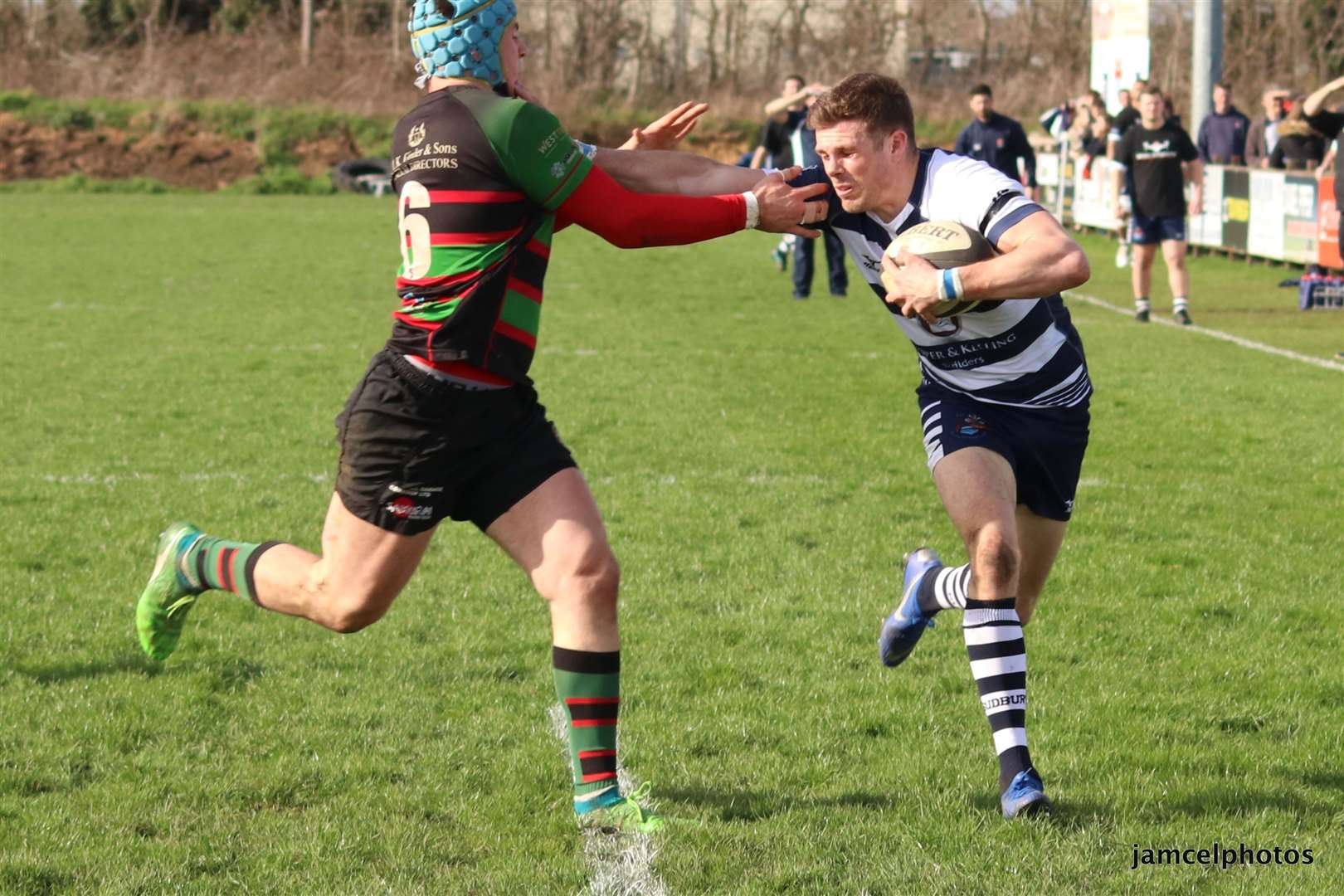 Sudbury score a try in the home defeat to Fullerians Picture: Jen McElroy (8037231)