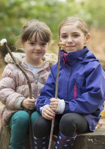 Daws Hall Nature Reserve, Henny Road, Lamarsh, Bures 'Daws Hall Autumn Colours Event - final family open day of 2017.'Lucy 4 and Annabelle 8 Ward from Great Waldingfield'Picture Mark Westley