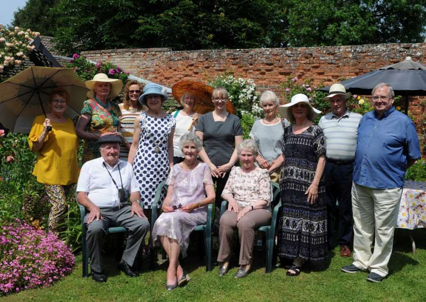 Mayor Julia Wakelam attended a garden party tea for West Suffolk carers group ANL-160706-154456009
