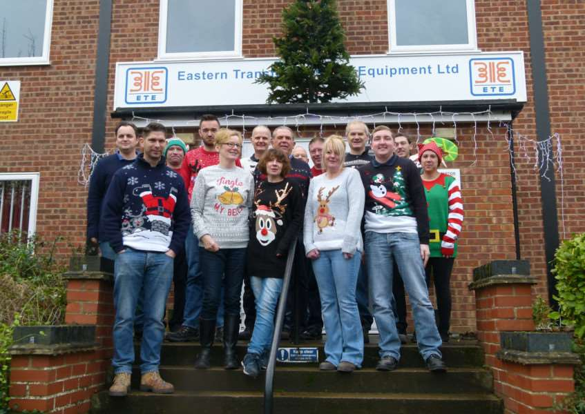 The team at ETE held a Christmas jumper day in aid of Bury's Stray Cat Fund