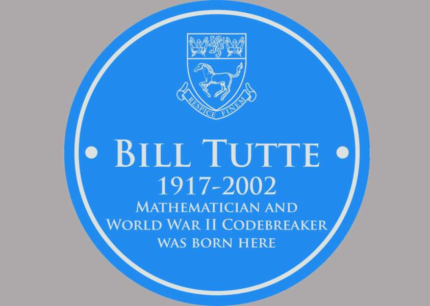 Bill Tutte Blue Plaque
