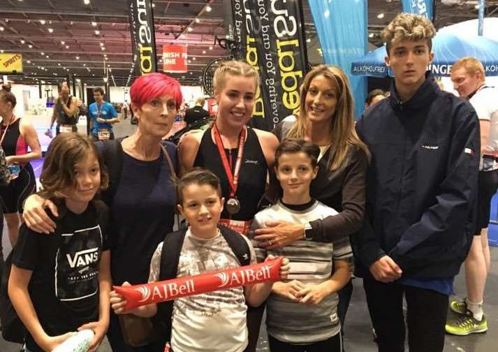 Lucy Dunmore with Claire Danks and family