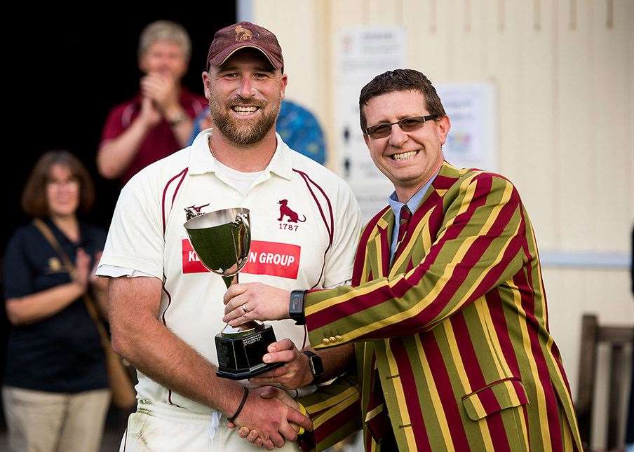 Sudbury captain and coach Tom Huggins with chairman Louis BrooksPicture by Mark Westley (4187761)