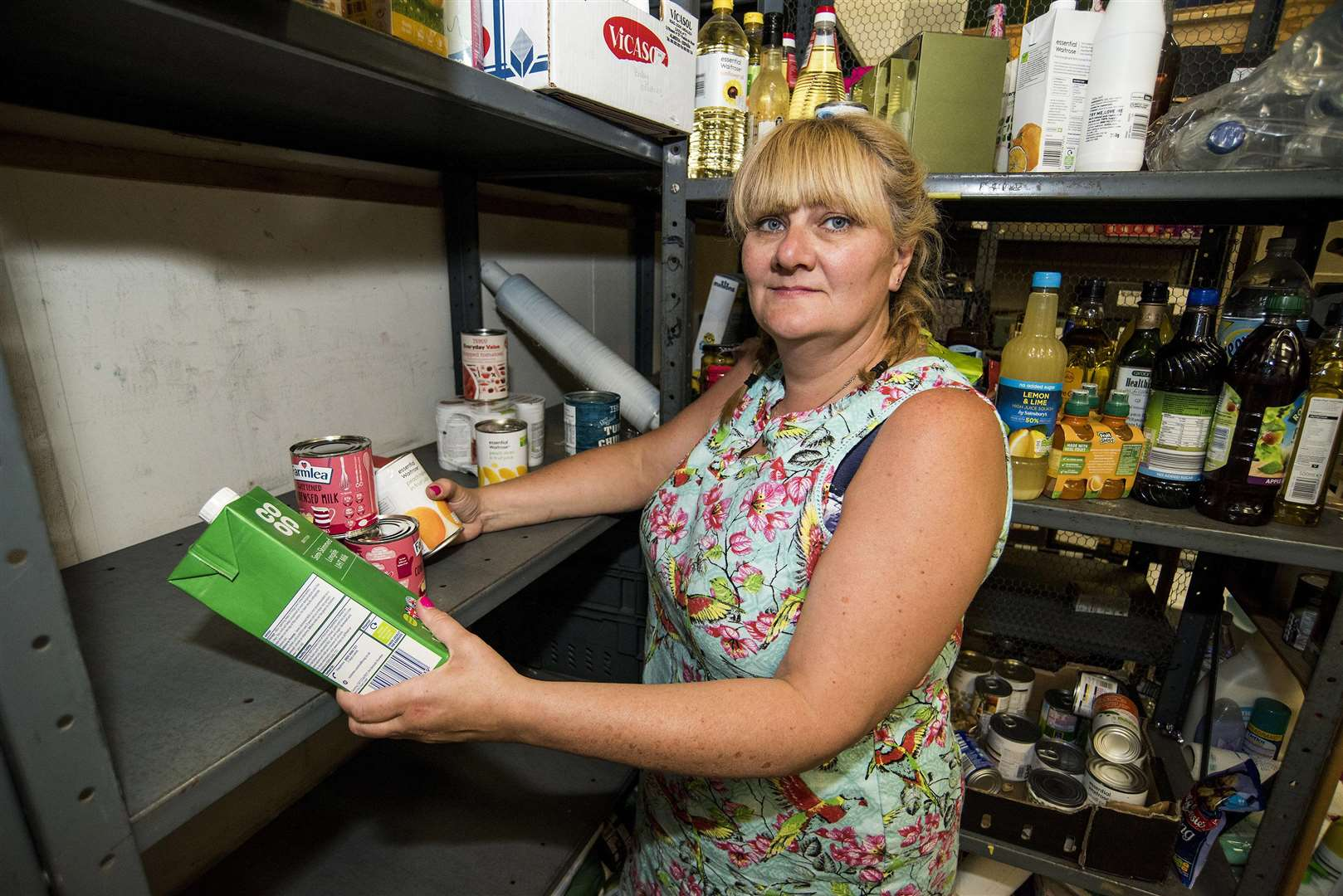 Amanda Bloomfield, chief executive of Gatehouse, is appealing for food items. Picture: Mark Westley.