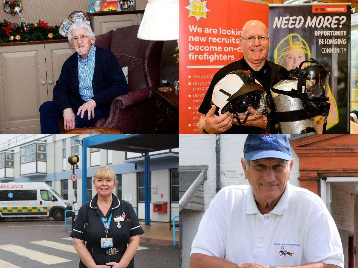 Some of the Suffolk residents who have been recognised in the Queen's New Year's Honours list