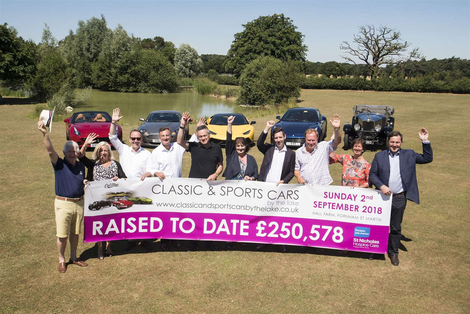 The Classic and Sports Cars by the Lake event, on Sunday, September 2, will have hundreds of vehicles on display all in aid of St Nicholas Hospice Care. Picture Mark Westley