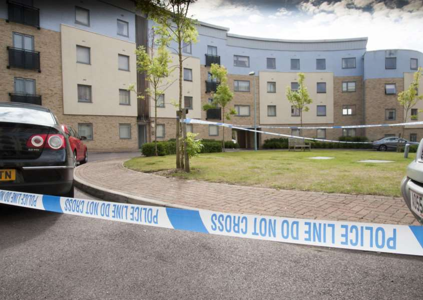 Scene of shooting at Forum Court, Bury St Edmunds ANL-150508-101854009