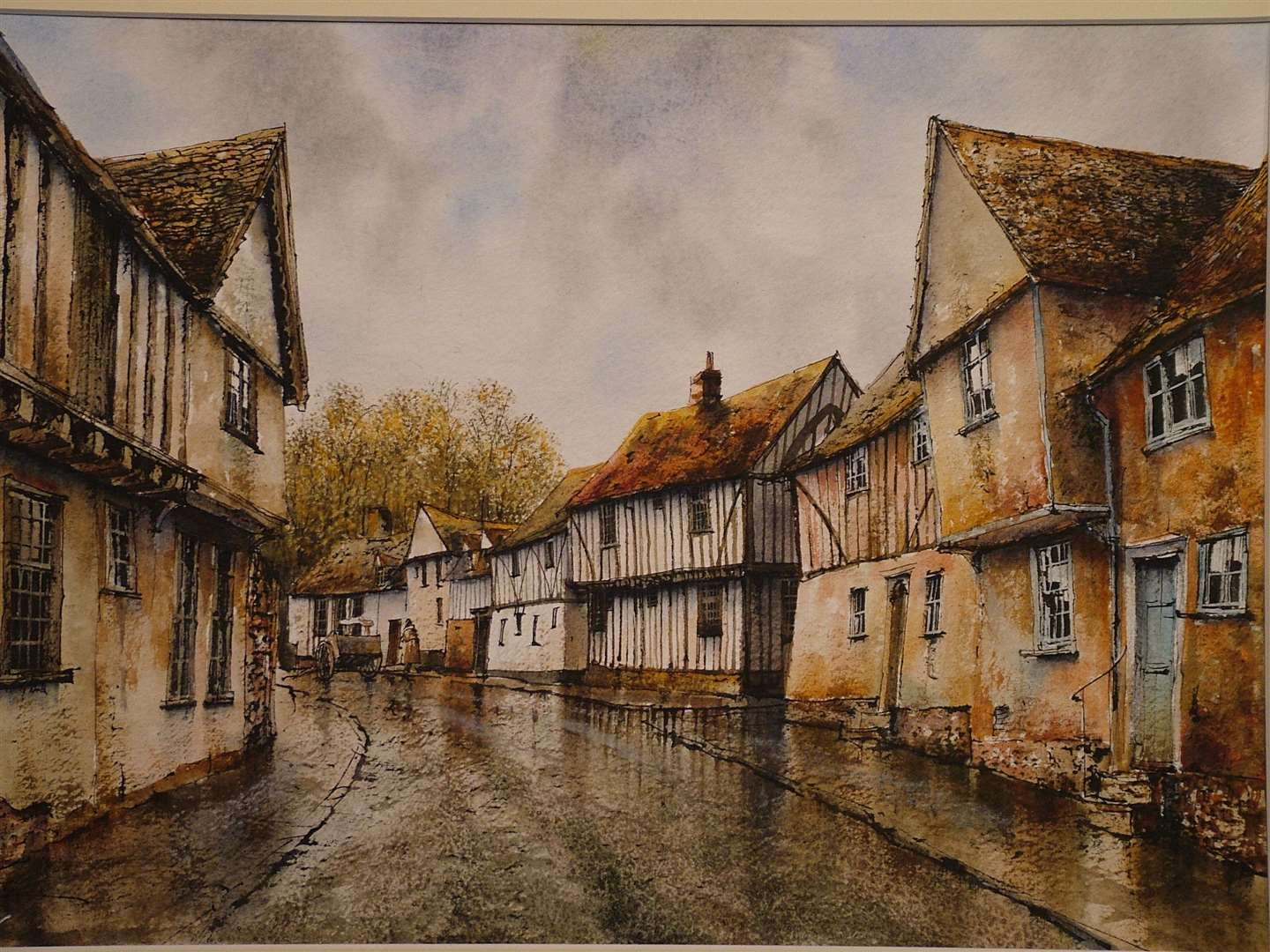 Suffolk Art Society - Water Street Lavenham by Reg Siger (13821969)