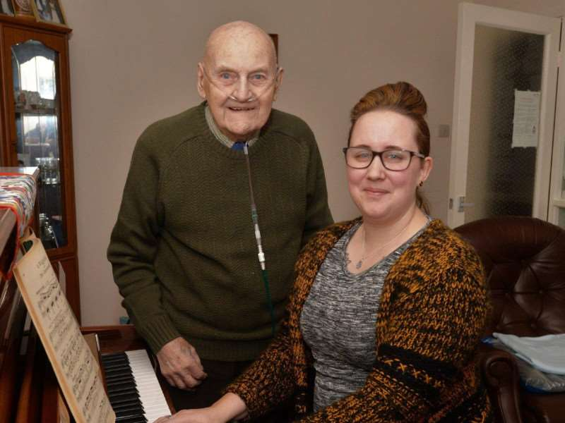 Thanks for the memories ... George Pawsey with pianist Abby Seastrand