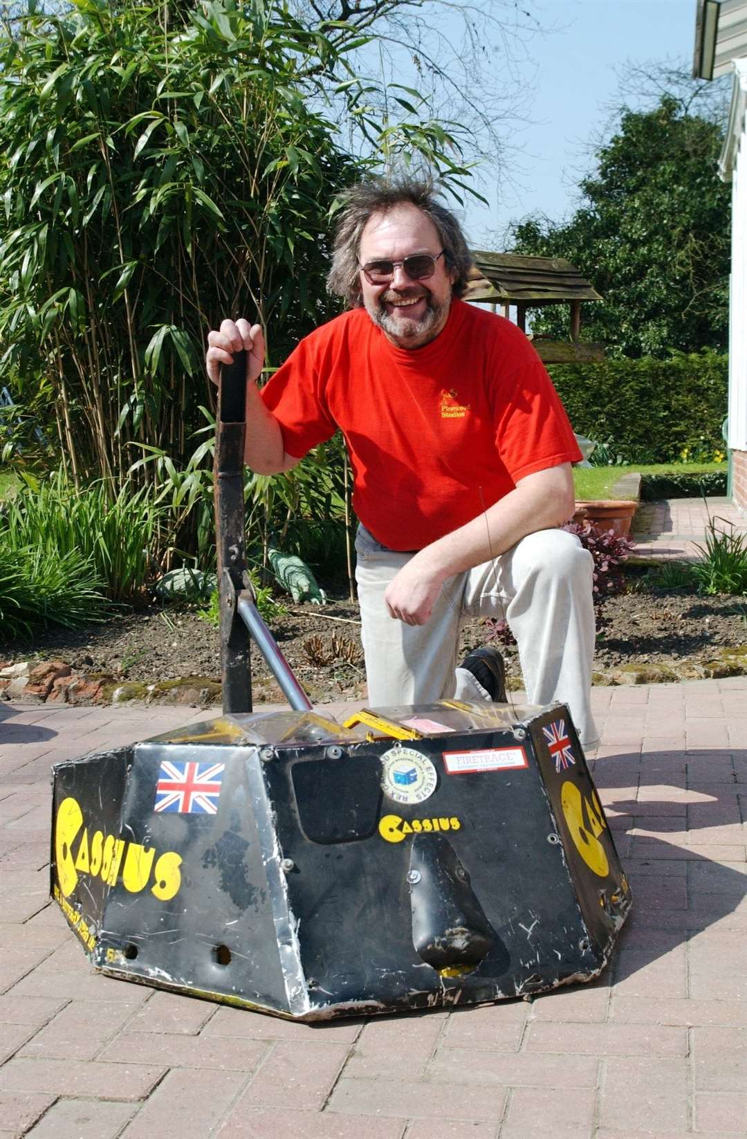 Rex Garrod, pictured in 2002 with Robot Wars entry Cassius