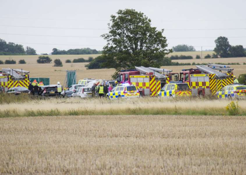 Image �Licensed to i-Images Picture Agency.The A14 has been a nightmare for motorists this week - this crash took place on Monday. Picture by Terry Harris / i-Images IIM-10789