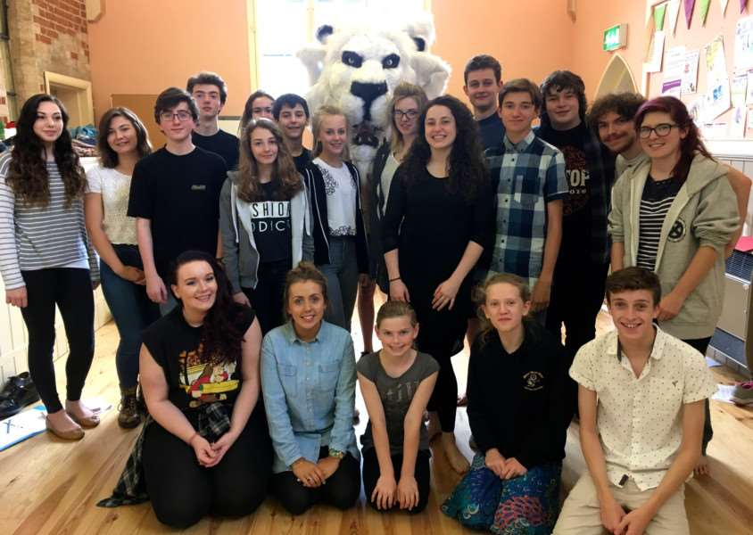 The cast of the Spinning Wheel Theatre company's, The Lion, Witch and the Wardrobe ANL-160408-125404001