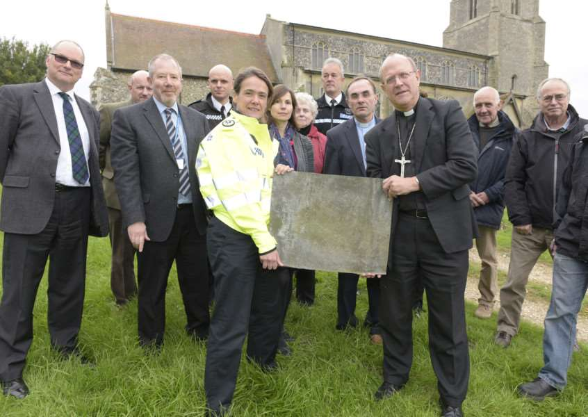 COMBS: Measures to protect churches after lead thefts'St Mary's Church, Church Road, Combs, IP14 2RA'In response to the recent thefts of lead from churches across Suffolk, Rev Martin Seeley, Bishop of St Edmundsbury and Ipswich, Suffolk police's assistant chief constable, the priests of churches targeted and police officers will announce a package of measures to combat this crime wave hitting many rural communities.'Picture Mark Westley ANL-151013-192950009